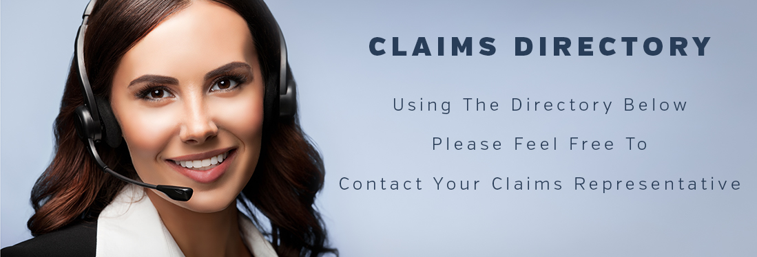 Graphic representing Insurance Claims Directory with a smiling phone representative.