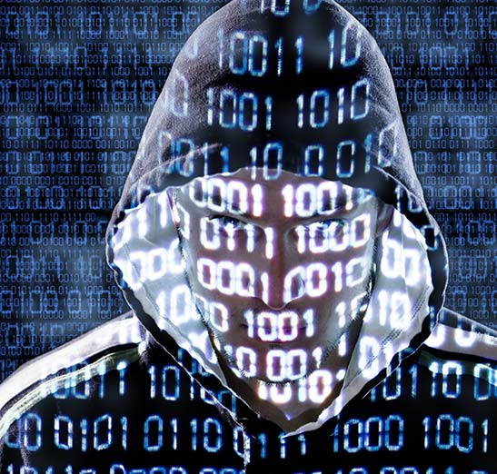 Digital representation of suspicious looking character, graphic depicting cyber crime, scary, watch out, beware of these kinds of characters who might try to hack your computer system